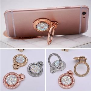 Gold Crystal Cellphone Ring Stand